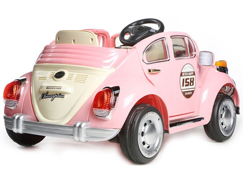 Beetle Classic Style Kids Electric Car Pink Volt Motorised